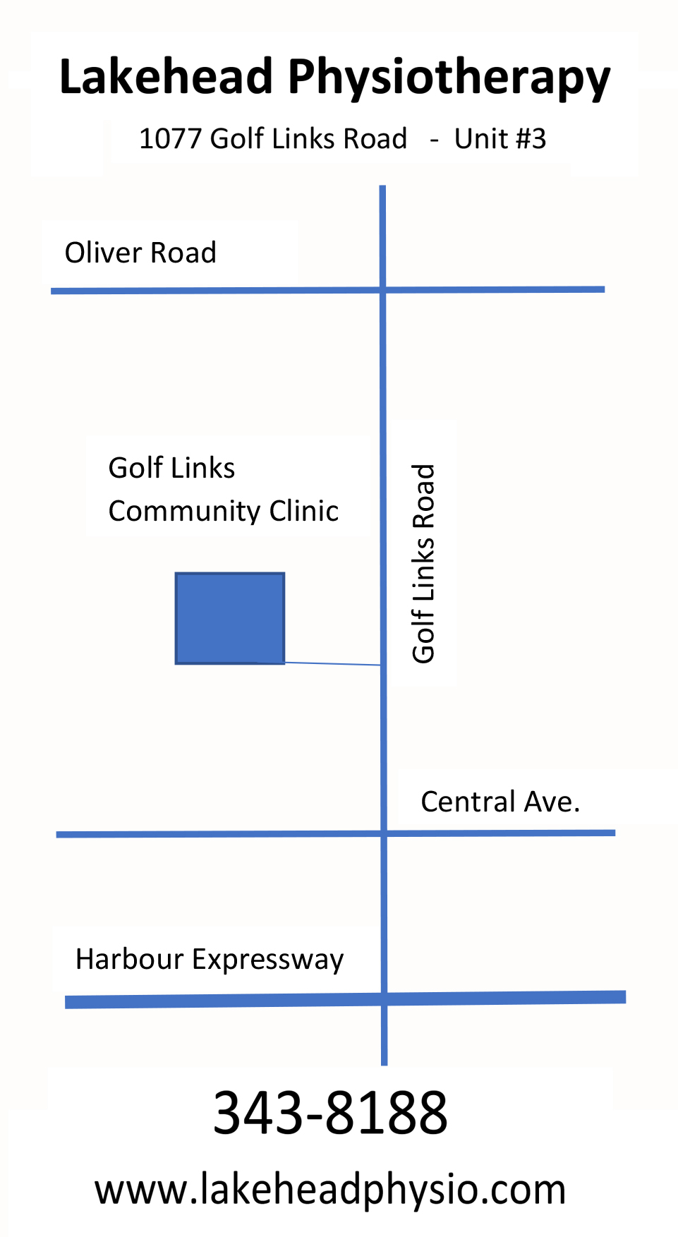 Directions to Lakehead Physiotherapy